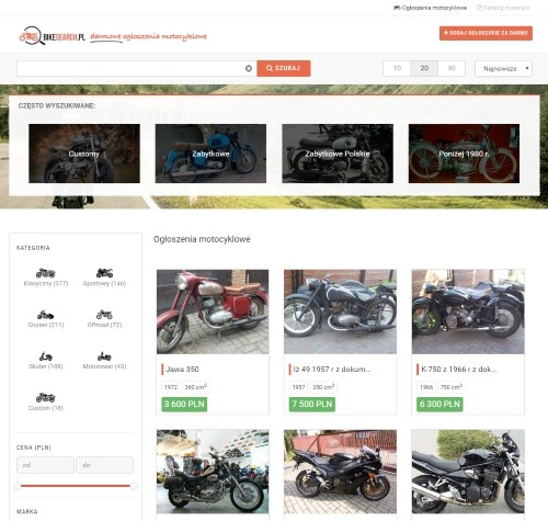 Strona główna portalu bikesearch