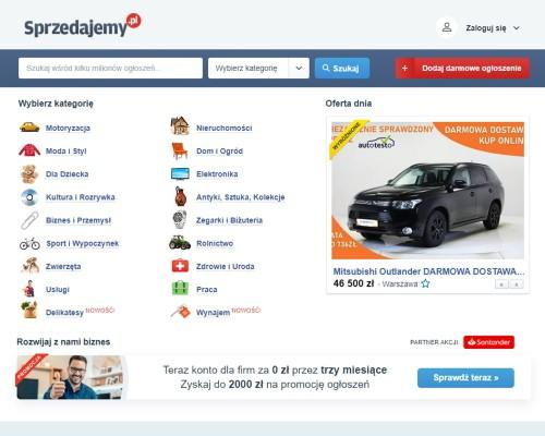 Strona główna portalu sprzedajemy