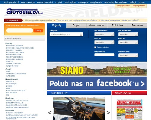 Strona główna portalu autogielda